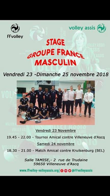Groupe France Volley Assis Masculin - Stage de fin d'année 23018