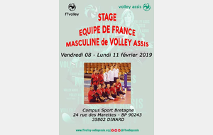 Groupe France Volley Assis Masculin - Stage préparation TQCE 2019 CROATIE